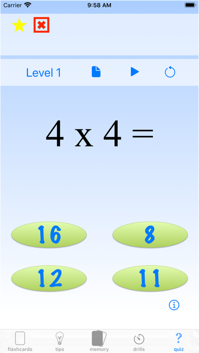 multiplication drills: X screenshot 10