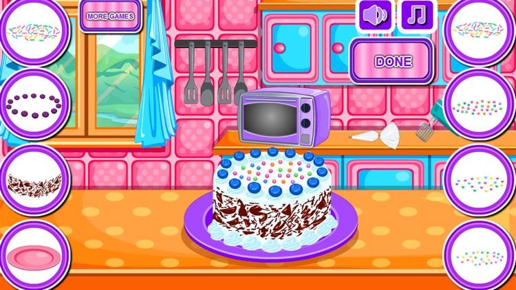Baking black forest cake games screenshot-8