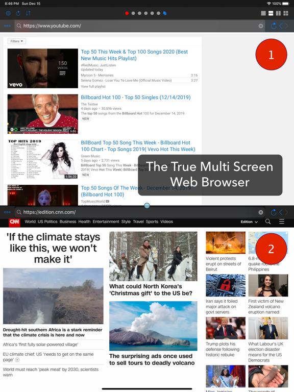 Dual - マルチスクリーンWebブラウザのおすすめ画像1