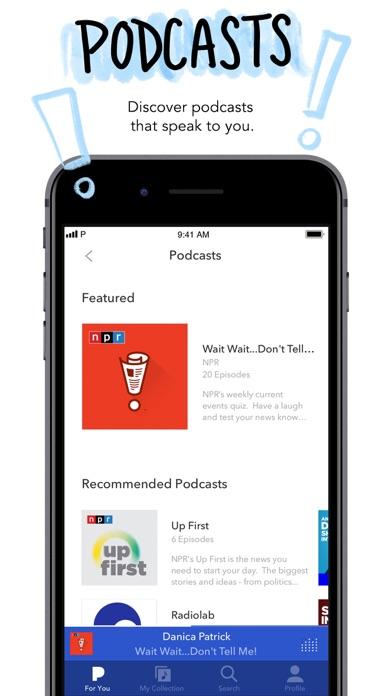 Pandora: Music & Podcasts Screenshot on iOS