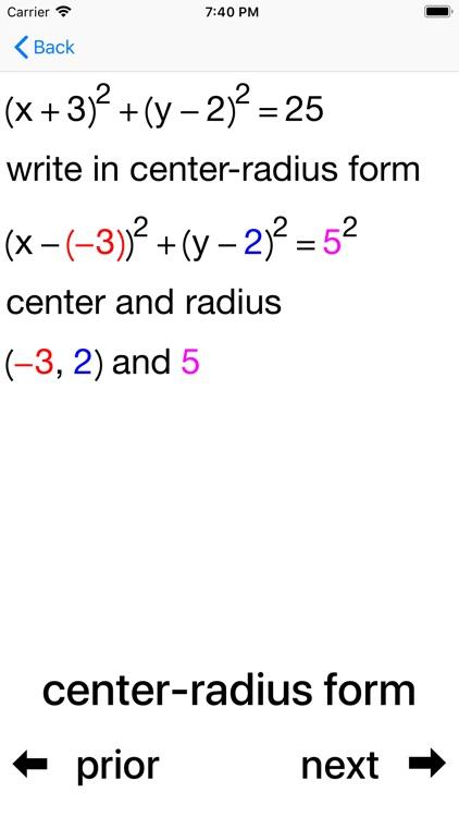 Circles and Equations screenshot-5