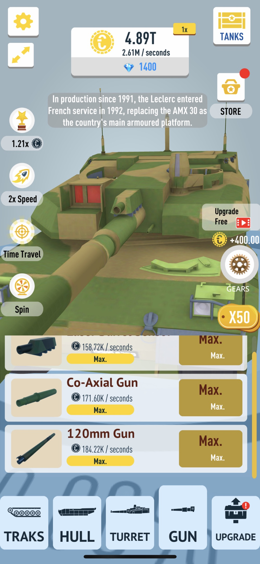 Idle Tanks 3D Cheat Codes