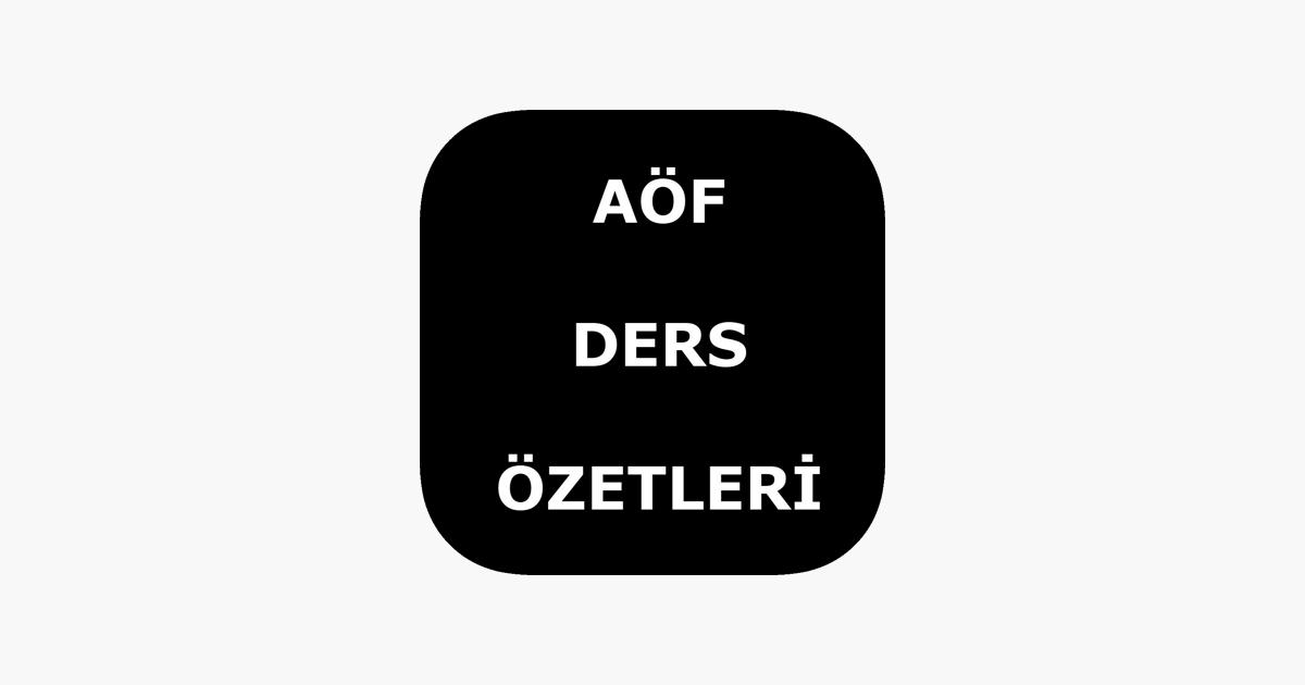 aof ders ozetleri on the app store