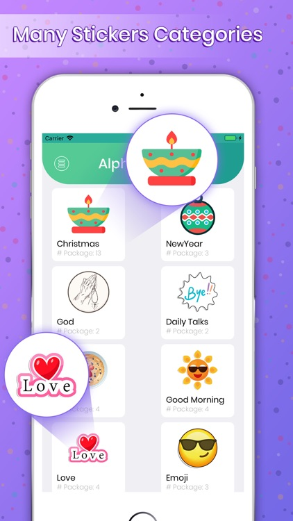 Alpha Stickers for WhatsApp