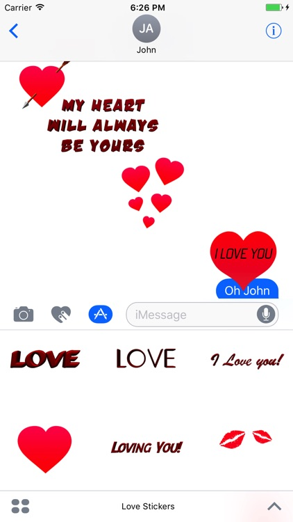 Love Stickers for Messages