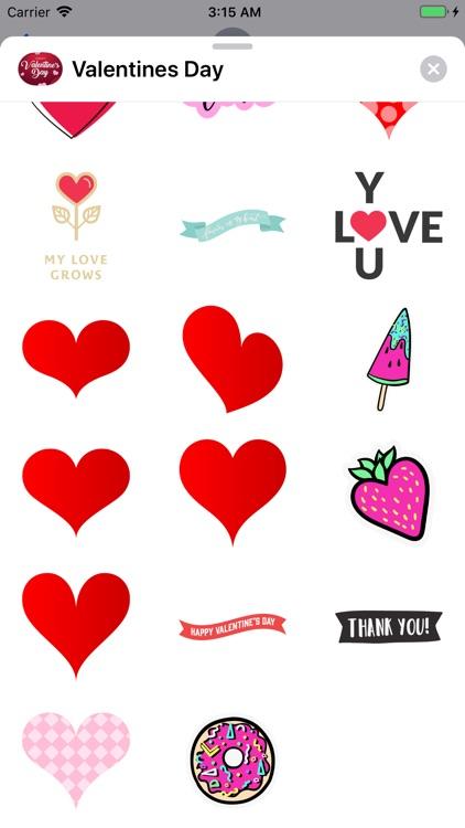 Happy Valentines Day Stickers! screenshot-3