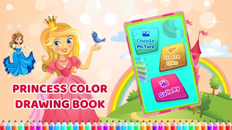 Princess Colour Drawing Book