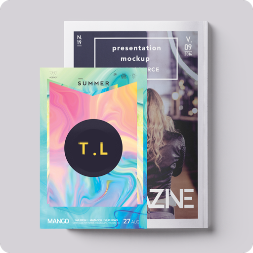 Magazine template & Design T.L