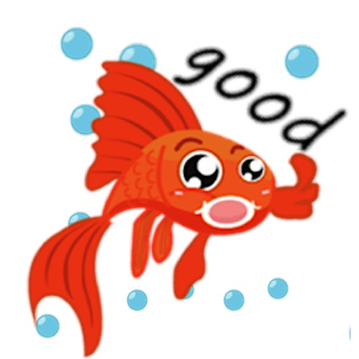 Lucky Goldfish Emoji Sticker