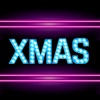 Neon Merry Xmas Stickers