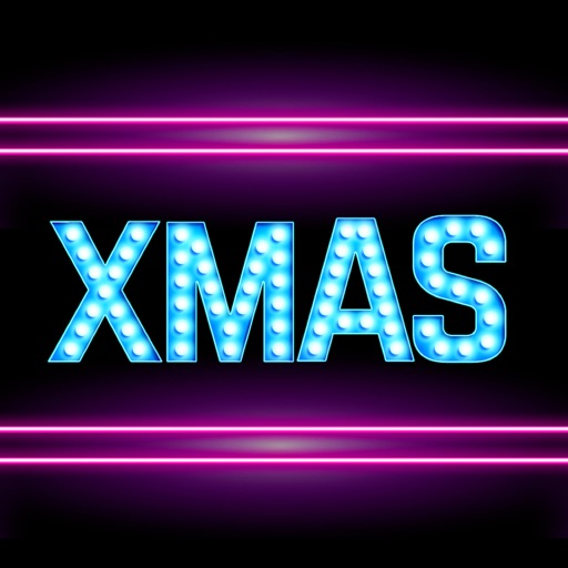 Neon Merry Xmas Stickers
