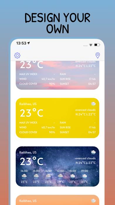 CuteWeather: weather widget Screenshot