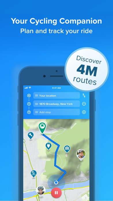 Bikemap - Cycling Map & GPS Screenshot