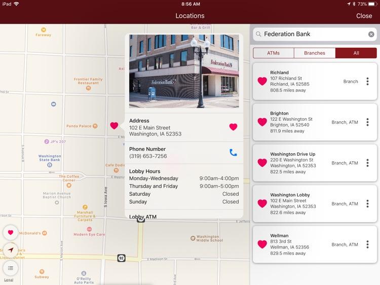 Federation Bank for iPad screenshot-4
