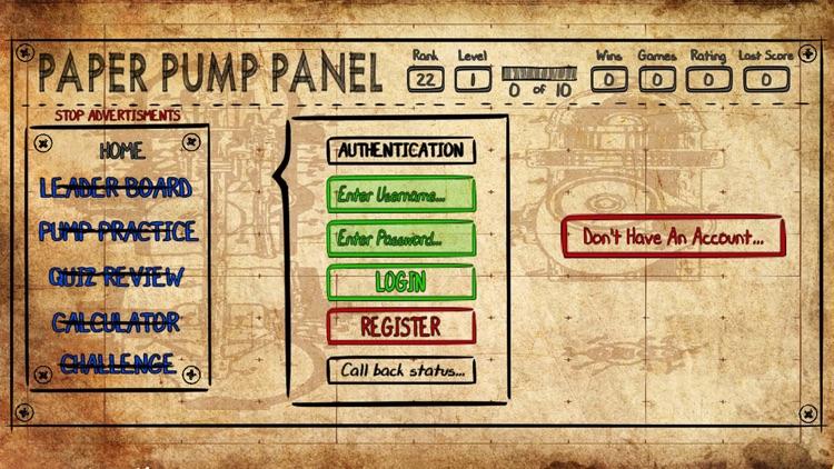 Paper Pump Panel