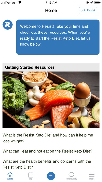 Resist - Keto low carb diet