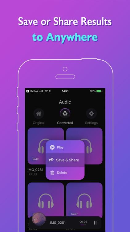 Audic - Audio MP3 Converter screenshot-5