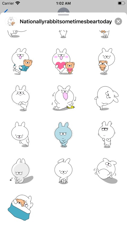 Rabbit and bear stickers