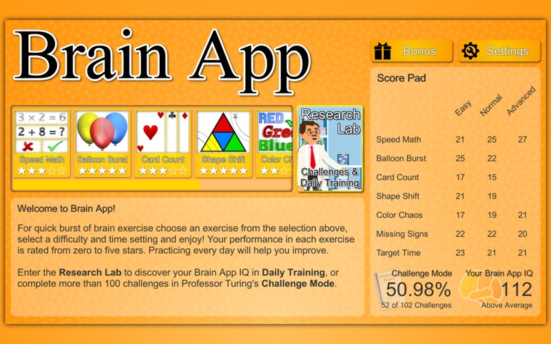 Screenshot #1 pour Brain App