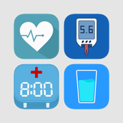 Personal Care Bundle - BP and Glucose Tracker, Water and Pill Reminder
