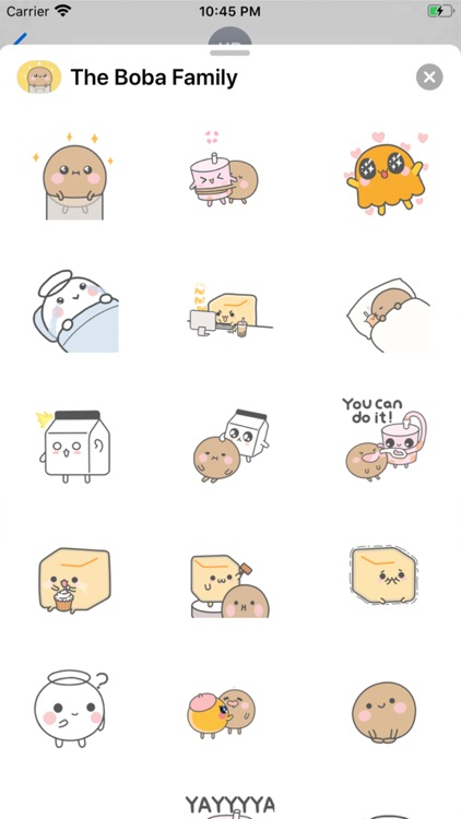 Boba Family iMessage Stickers
