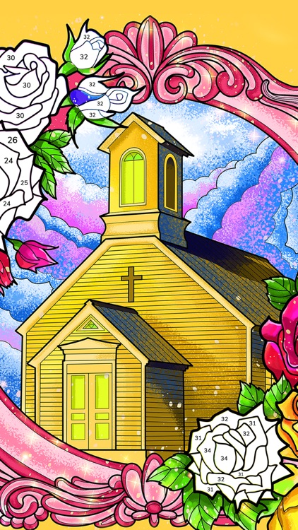 Bible Coloring Paint by Number screenshot-5