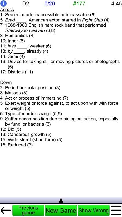 Crossword Unlimited + screenshot-6