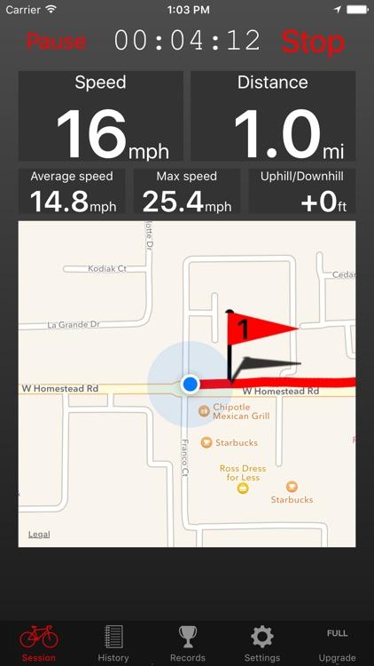 Fitmeter Bike Basic - Cycling screenshot-0