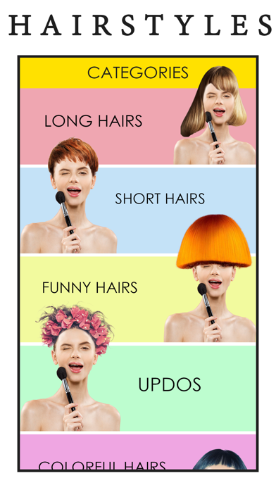 Hair Style Changer-Makeover Ap