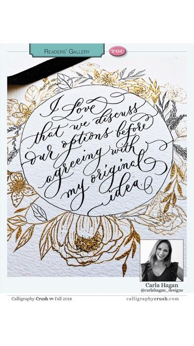 Calligraphy Crush Magazine Screenshot
