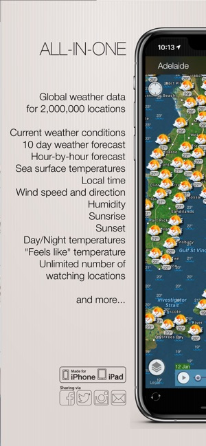 Weather and wind map