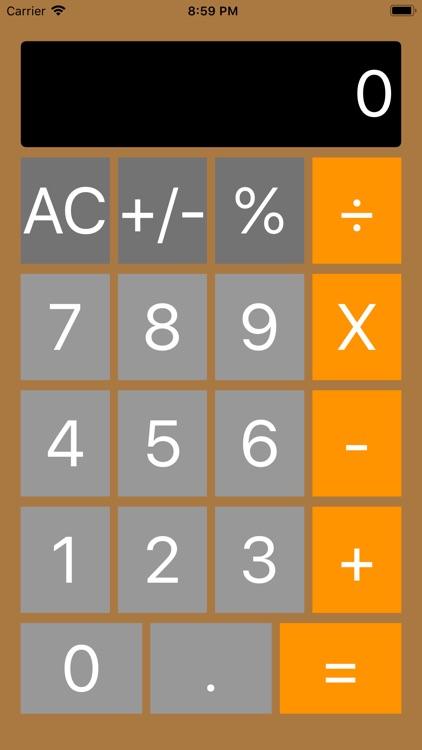 Basic Big Button Calculator