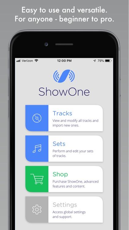 ShowOne - Pro Backing Tracks screenshot-4