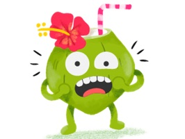 Awaken your iMessages for funny emotion with this exclusive Coconut Confident Sticker pack