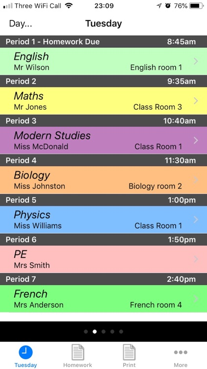 School Timetable screenshot-0