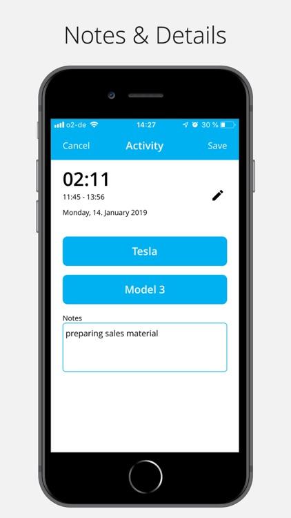timeBuzzer - time tracking screenshot-4