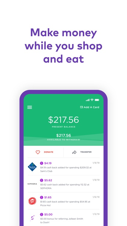 Dosh: Automatic Cash Back App screenshot-2