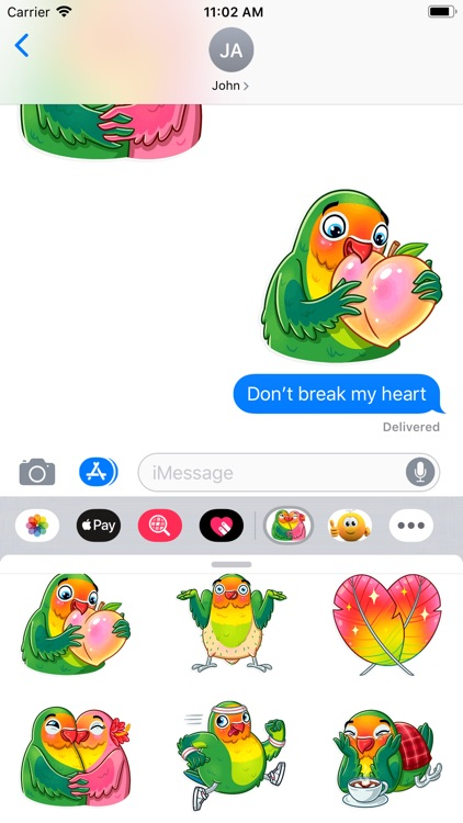 Love Birds Life Stickers