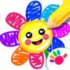 少儿童画画游戏幼儿学习涂色儿童游戏小宝宝教育3岁6婴儿绘画