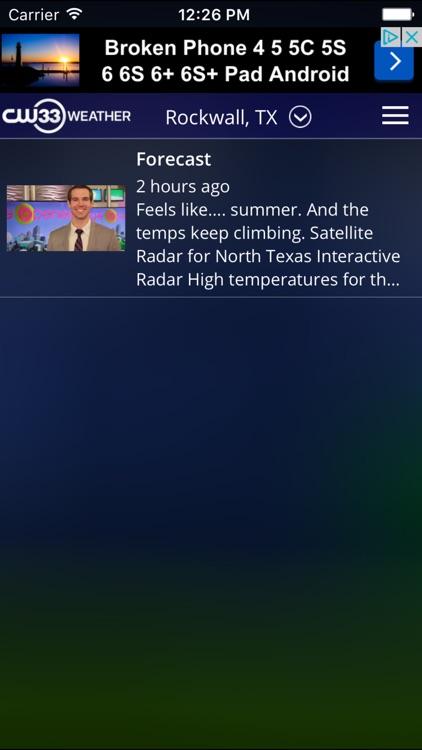 CW33 Dallas Texas Weather screenshot-3