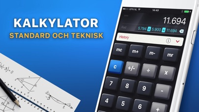 Screenshot for Kalkylator HD in Sweden App Store