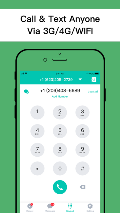 Second Phone Number - Call App Screenshot