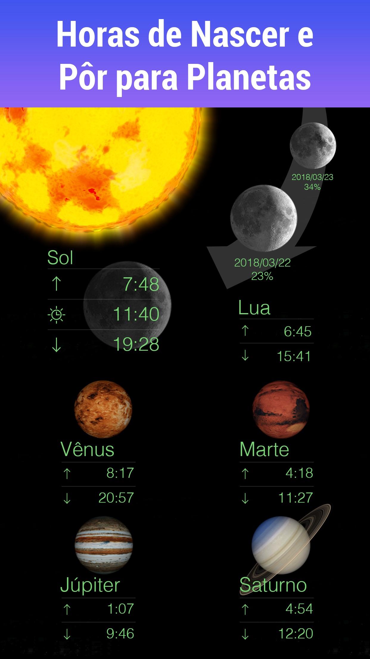 Screenshot do app Star Walk - Guia de astronomia