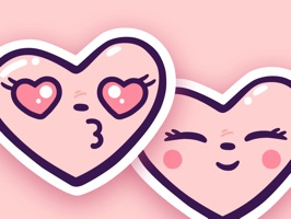 Adorable Heart Stickers