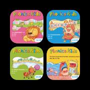 英语自然拼读系列 Phonics Kids 套装组合12册 -儿童英语早教启蒙趣味课程,学习拼读发音和练习的最佳工具