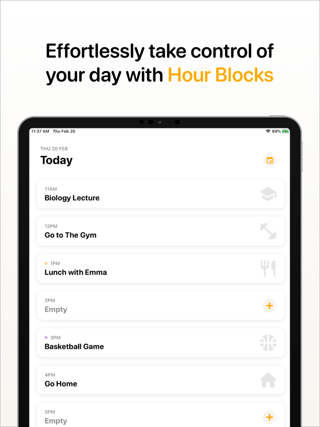 ‎Hour Blocks: Day Planner Screenshot