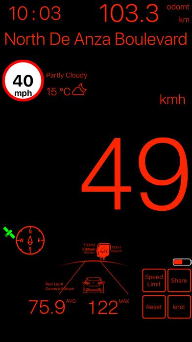 速度計mph kmh gpsベースのおすすめ画像4