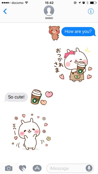 Sticker of a small rabbit love screenshot one