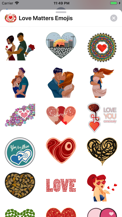 Screenshot for Love Matters - Emoji Stickers in United States App Store