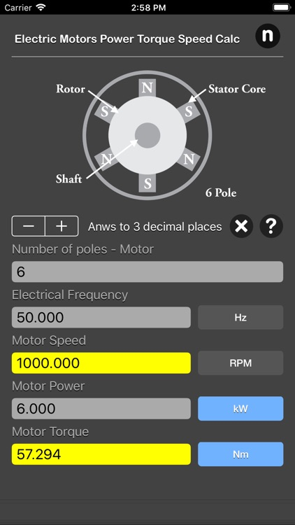 Electric Motors Speed Calc screenshot-5